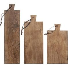 HK-living broodplanken gerecycled teakhout (set van 3) - HKliving - | HomeDeco.nl