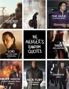 Avengers random quotes. Haha! Hawkeye and Black Widow!
