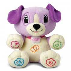 My Pal Violet from LeapFrog is a customizable interactive puppy with more than 40 songs and learning activities built in, for ages 6 months and up.