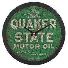Oil wells gas brands oil cans old gas stations hood for Quaker state motor oil history