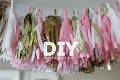 DIY Tassel Garland out of tissue paper!
