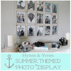 Summer Coastal Themed Photo Display | Hymns and Verses