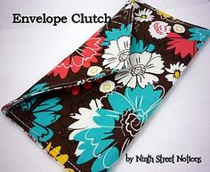 Learn to sew with this easy clutch.
