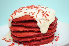 Red Velvet Pancakes & Cream Cheese Frosting