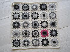 Crochet Granny Black-White-Grey - Tutorial ❥ 4U // hf