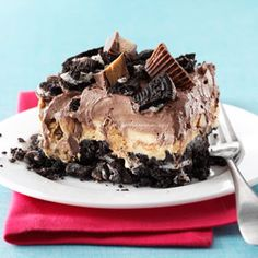 "Peanut Butter Chocolate ""Reeses"" No Bake Dessert"