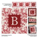 Printable Monograms: Elegant - Red great for bottle cap jewelry, glass tile jewelry & fridge magnets too! #ecrafty