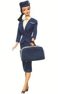 984 - Vintage Barbie American Airlines Stewardess 1961-1964