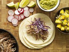 Slow Cooker Pulled Pork Soft Tacos Recipe #food