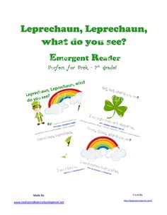 Free Leprechaun, Leprechaun, what do you see? Emergent Reader enchant homeschool, homeschooling, march, mom shop, school activ, homeschool mom, st patrick, leprechaun, emerg reader