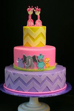 Twin baby shower cake :)