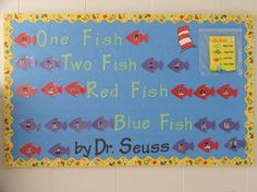 Dr. Seuss' Bulletin Board - One Fish, Two Fish, Red Fish, Blue Fish