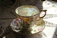 Lovely Lusterware teacup & saucer