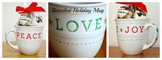 Stenciled Holiday Mug | One Artsy Mama