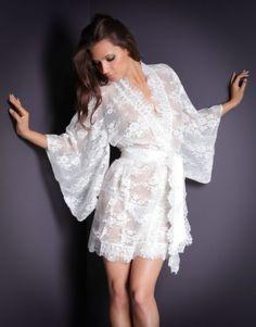 Lace kimono robe