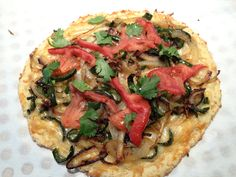 Chile Pizza made with almond flour.  Gluten-Free Specific Carbohydrate Diet (SCD) Crohn's disease, IBS, Celiac