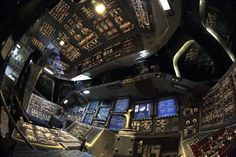 Apr. 6, 2012: A view from the pilot's seat in the cockpit of of space shuttle Endeavour is seen during a media tour at Kennedy Space Center in Cape Canaveral, Fla.