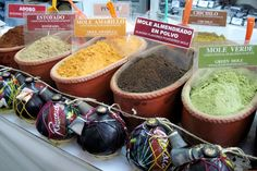 Mole powders at the market in Oaxaca, Mexico! #TMD Total Mexican Delight! #IwannagotoOaxaca http://gotomexico.co.uk/