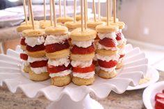 Strawberry Shortcake Skewers | Karen in the Kitchen