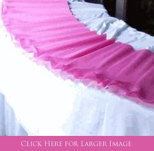 Paper Table Runners made from Heavy-Weight Crepe imported from Italy - wide variety of colors! Can be used on straight or curved tables - you can even ruffle the edges.
