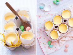 Yum-Custard in egg shells