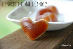 1 ingredient maple candies - Easiest recipe ever!