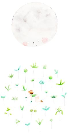 MIDNIGHT GARDENING - Amy Borrell | Illustration & Design hello poppet, ami borrel, midnight garden