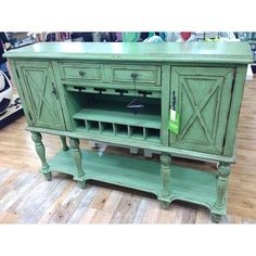 Beautiful minty green buffet found at the NYC HomeGoods!