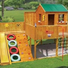Backyard - Play gym... see rest of Sarah's board.