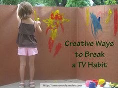 kids or no kids, these ideas are worth looking at. Ideas for how to replace TV time with something better. craft, cardboard boxes, no tv for kids, kid activities, tv time, replac tv, paint, tv habit, kids toys