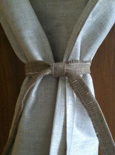 Burlap Drape Tie Back