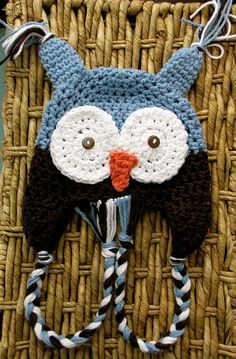 crochet hat patterns, crochet hats, baby owls, crochet owls, baby hats