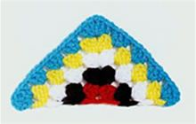 Crochet! -- Talking crochet ...  pattern for half a granny square. Using it for a vest