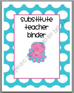 Substitue Teacher Binder Pack