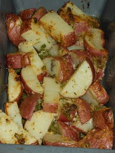 dinner, cook, parsley potato, food, potatoes