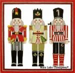 Melissa Shirley Designs | Hand Painted Needlepoint | 3 Nut Crackers