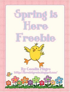 FREE Spring is Here Writing Freebie - Go to http://pinterest.com/TheBestofTPT/ for this and thousands of free lessons.