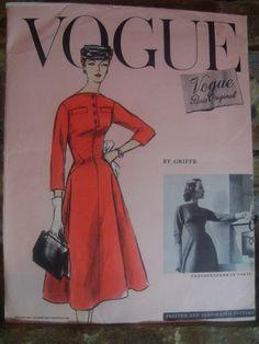 Vogue 1327 by Jacques Griffe, 1950s Paris Original Pattern