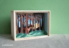 little deer diorama