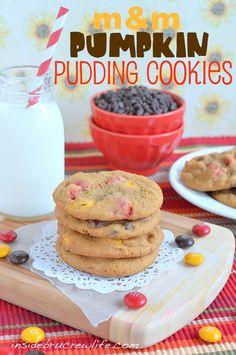 M Pumpkin Pudding Cookies