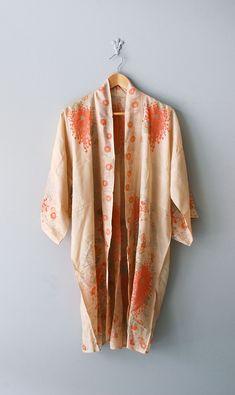 1920s silk kimono robe