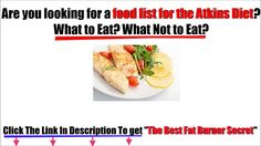 Atkins Diet Food List  Kick-start your weight loss with our low-carb food list for Phase 1 and a ... You should be eating approximately 12 to 15 grams of net carbs per day in the form of ...Atkins Diet Food List