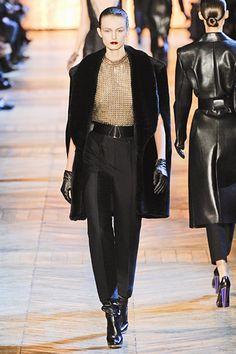 Furry caplet at Yves Saint Laurent
