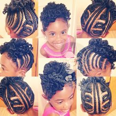 Kinky,Curly,Relaxed,Extensions Boardstyle-updo-wbantu-knot-shared-kinetra/ #kidshair #cornrows #bantuknotout