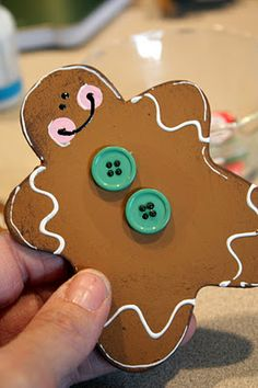 Wooden Gingerbread Man Pin