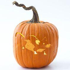 Mouse Pumpkin Stencil