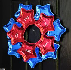 Star wreath from paper plates