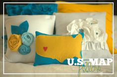 US Map Pillow Tutorial