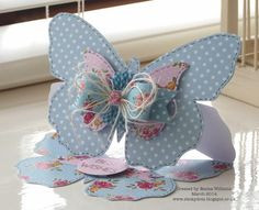 Paper Artistry - Butterfly Easel Card Craftwork Cards