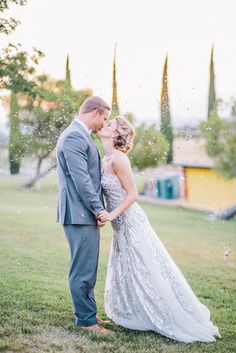 confetti kiss, photo by Lisa Mallory Photography http://ruffledblog.com/glam-new-years-inspiration #weddingideas #weddingportrait